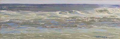 Island Beach Waves Original by Lea Novak