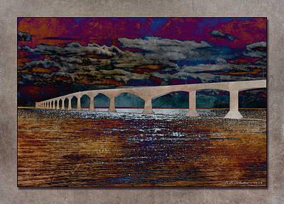 Photograph - Island Bridge by WB Johnston