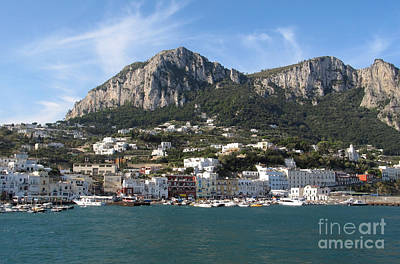 Island Capri Panoramic Sea View Print by Kiril Stanchev