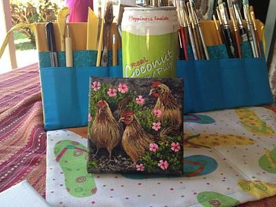 Painting - Island Chicks by Darice Machel McGuire
