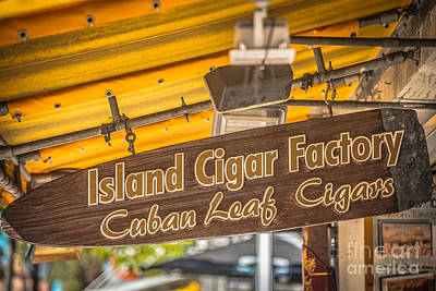 Cigar Factory Photograph - Island Cigar Factory Key West - Hdr Style by Ian Monk