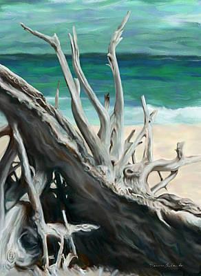 Island Driftwood Art Print by Dennis Orlando