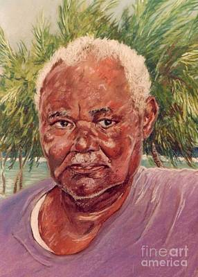Portrait Painting - Island Fisherman by John Clark