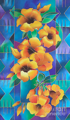 Painting - Island Flowers - Allamanda by Maria Rova