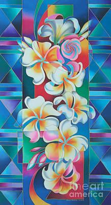 Island Flowers - Frangipani Art Print