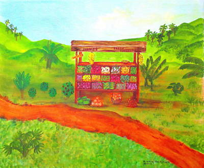 Painting - Island Fruit Stand by Ashley Goforth