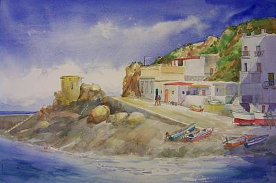 Sicily Painting - Island Hopping by Sue Kemp