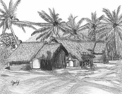 Island House 13 Art Print by Lew Davis