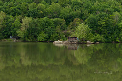 Photograph - Island House On New River - West Virginia by Paulette B Wright