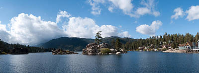 Bears Island Photograph - Island In A Lake, Big Bear Lake, San by Panoramic Images