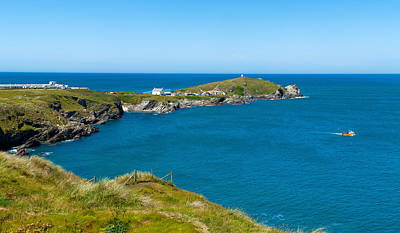 Island In The Sea, Towan Head, Newquay Art Print by Panoramic Images