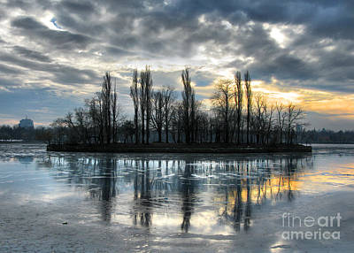 Photograph - Island In Winter - Reflection by Daliana Pacuraru