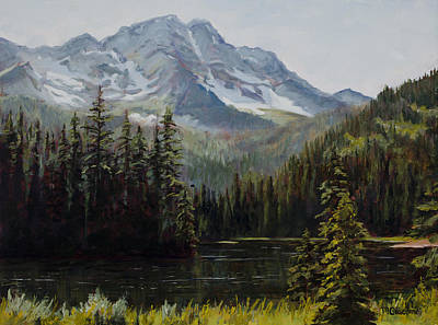 Painting - Island Lake by Mary Giacomini