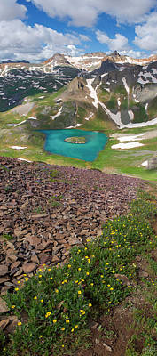Photograph - Island Lake Vertical Panorama by Aaron Spong