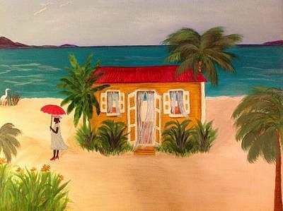 An Island Painting - Island Life by Karen Pasquariello