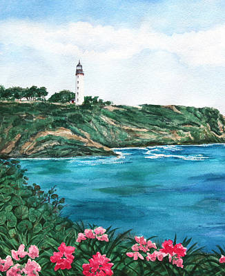Watercolor Flowers Painting - Island Light Watercolor by Michelle Wiarda