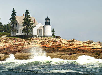 Island Lighthouse Art Print by Raymond Earley