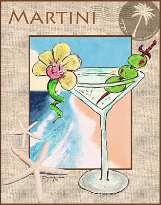 Martini Royalty-Free and Rights-Managed Images - Island Martini by William Depaula