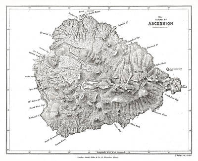 Photograph - Island Of Ascension Visited By Darwin by Wellcome Images