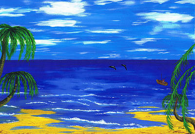 Painting - Island Of Dreams. by Kenneth Clarke