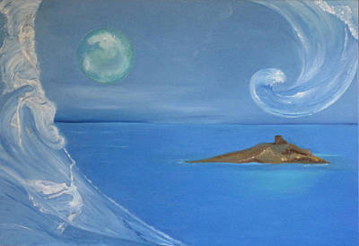 Sicily Painting - Island Of Females by Daniela Giordano