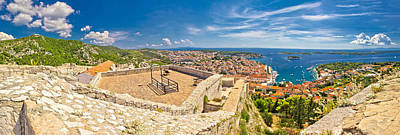 Photograph - Island Of Hvar Panoramic Aerial View by Brch Photography