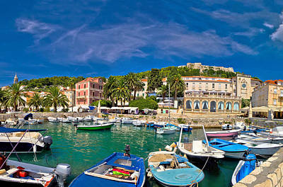 Photograph - Island Of Hvar Waterfront View by Brch Photography