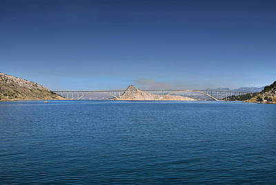 Photograph - Island Of Krk Bridge Over Sea by Brch Photography