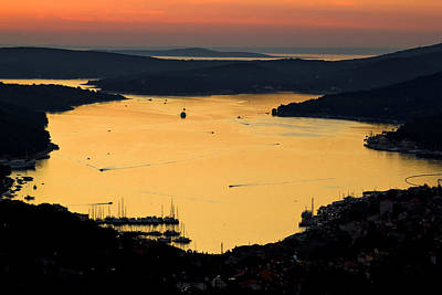 Photograph - Island Of Losinj Bay Reflection At Sunset by Brch Photography