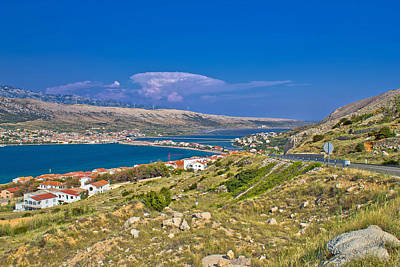 Photograph - Island Of Pag Aerial Bay View by Brch Photography