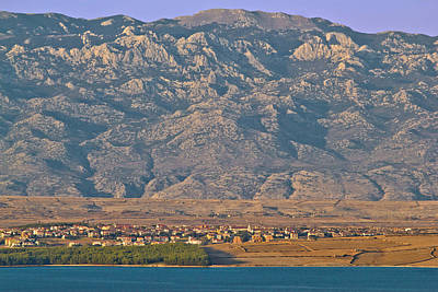 Photograph - Island Of Pag And Velebit Mountain by Brch Photography