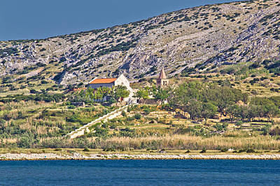 Photograph - Island Of Pag Coast Monastery by Brch Photography
