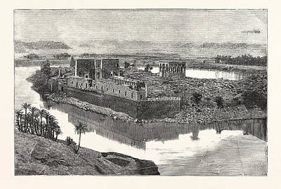 Island Of Philae, Scene On The Nile, Egypt Art Print