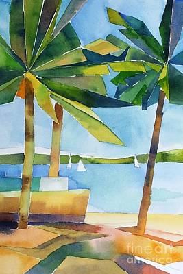 Painting - Island Palms by Yolanda Koh