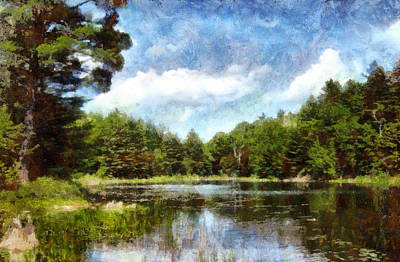 Photograph - Island Pond Adirondack Dreams by Joshua House