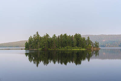 Landscape Photograph - Island Reflection by Nick Seman