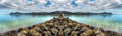 Coastline Digital Art - Island Rocks by Adrian Evans