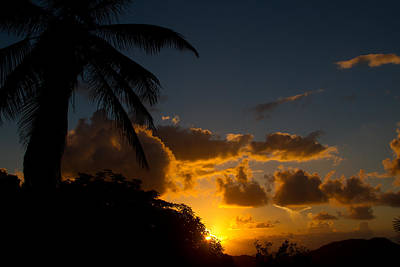 Sunrise Photograph - Island Sunrise St. Thomas by Jared Shomo