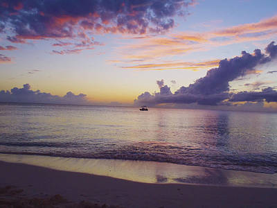 Cancun Photograph - Island Sunset by Carey Chen