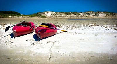 Red Canoe Photograph - Island Time by Karen Wiles