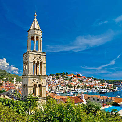 Photograph - Island Town Of Hvar Waterfront by Brch Photography