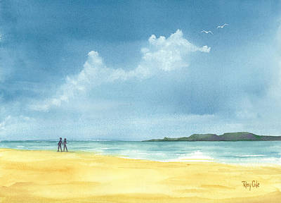 Ray Cole Painting - Island View by Ray Cole