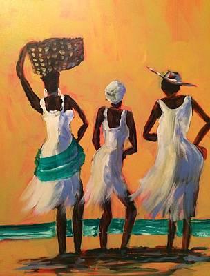 Island Women Original by Gloria Avner