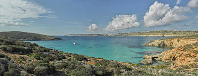 Clouds Over Sea Photograph - Islands In The Sea, Blue Lagoon by Panoramic Images