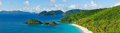 Urban Scenes Photograph - Islands In The Sea, Trunk Bay, St by Panoramic Images