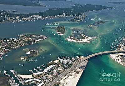 Photograph - Islands Of Perdido - Labeled by Gulf Coast Aerials -