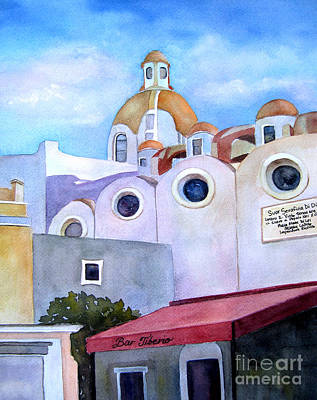 Painting - Isle Of Capri - Church by Vicki Brevell