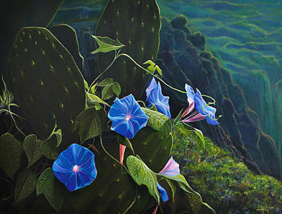 Morning Glories Painting - Isle Of Capri by Hunter Jay