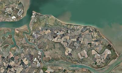 Sheppey Photograph - Isle Of Sheppey, Uk, Aerial View by Science Photo Library