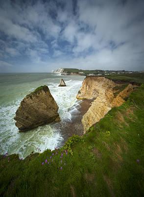 Isle Of Wight Seascape Art Print by Jaroslaw Blaminsky